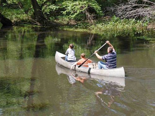 Go canoeing on the Choptank headwaters that border the campground