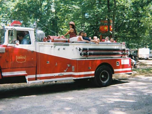 Ride the firetruck on special weekends
