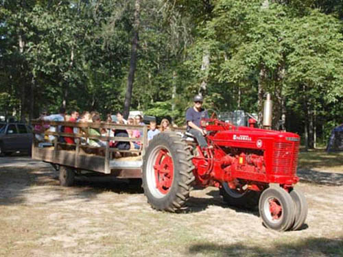 Hayrides every Saturday
