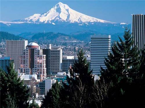 And Mount Hood is just a little further east - but on clear days it seems part of Portland