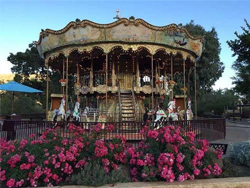 Classic venetian style, double decker carousel