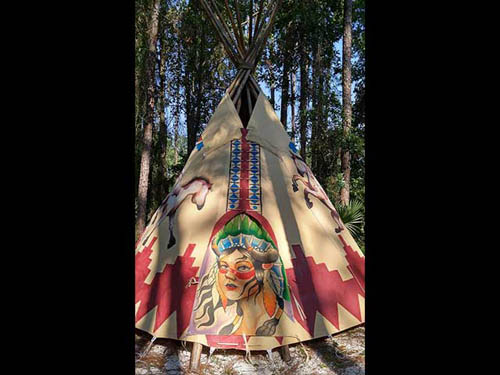 We have Rental tepee's