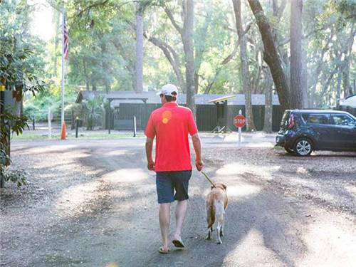 Pets are welcome at the Campground,