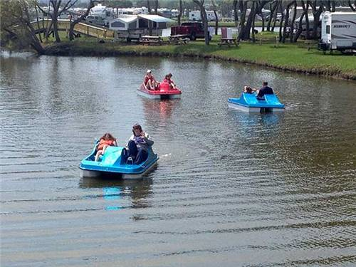 Paddle boat and canoe rentals are available