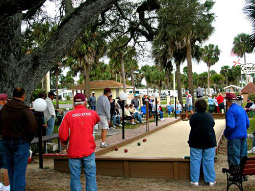 Bocce is popular here!  You can watch, learn, or join a game.