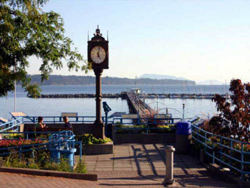 Walk the promenade in picturesque White Rock