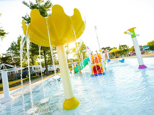 Splash time at our splash pad