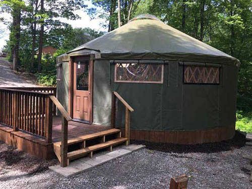 Our Yurts are fun way to camp