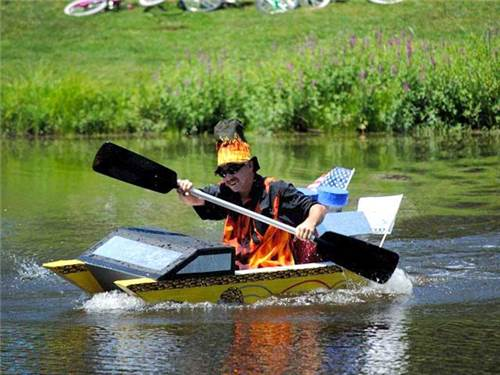 Compete in our annual cardboard boat Regatta