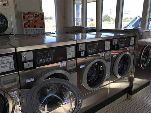 Large,  clean laundromat
