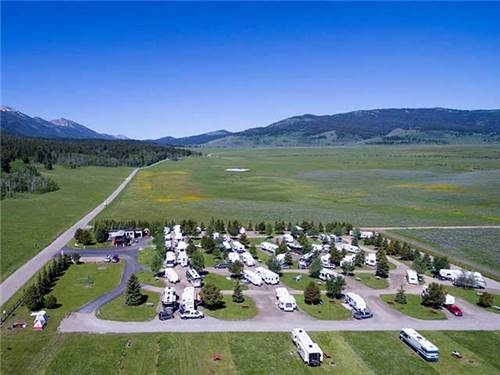 Our RV park sits at the  base of the Centennial Mountains with surrounding mountain views.