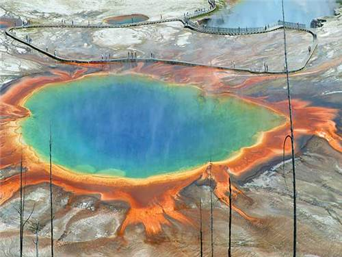 Yellowstone National Park is a scenic 25 minute drive away from our quiet park.