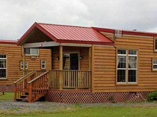 And fully-furnished one, two and three bedroom cabins