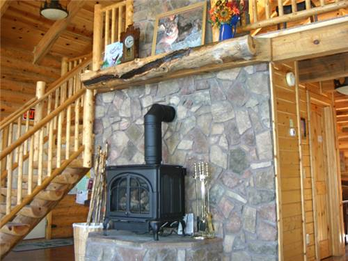 Cozy up to our Beautiful Fireplace