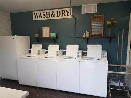 Clean laundry facilities,