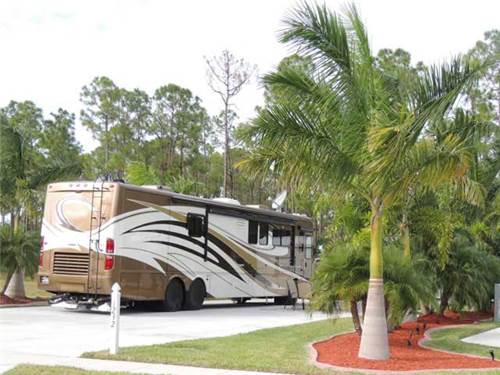 Large lots to accommodate Motorhomes