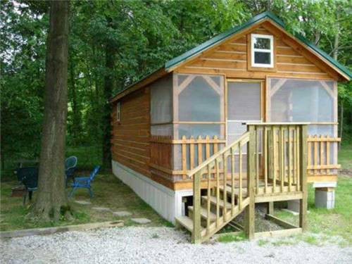 Or we have cabins for those without RVs