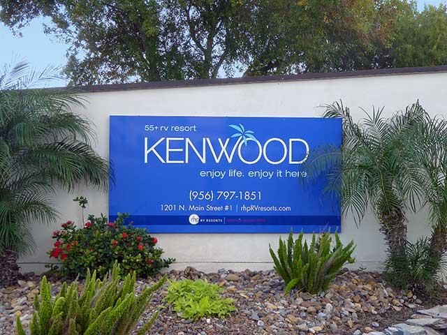 Kenwood RV Resort is in the Rio Grande Valley