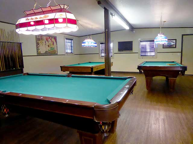 Our billiards room is in our amenity center