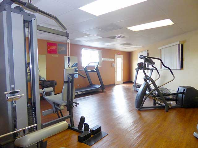 Stay active in our on-site fitness center