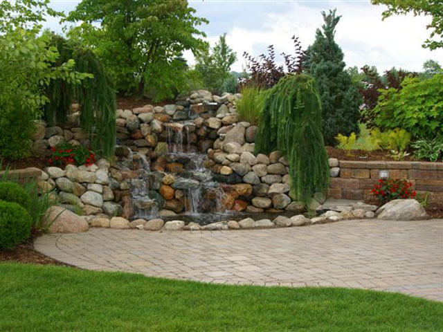 Beautiful waterfall on deeded site