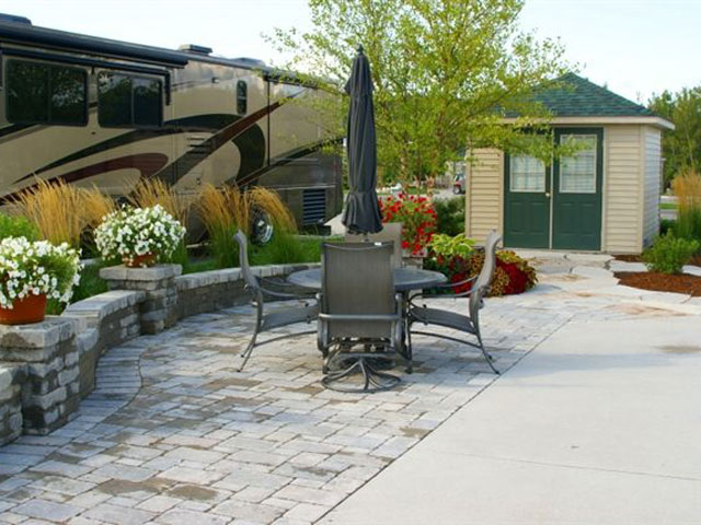 Owner designed patio and wall