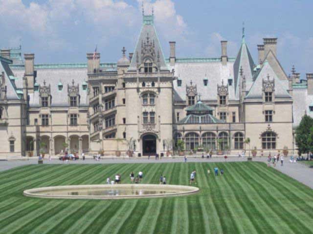 The magnificent Biltmore Mansion close