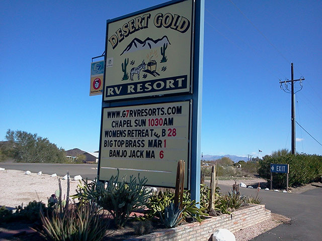 Desert Gold RV Resort in Brenda, AZ