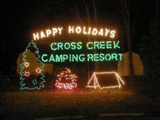 Enjoy the season at Cross Creek Camping Resort.
