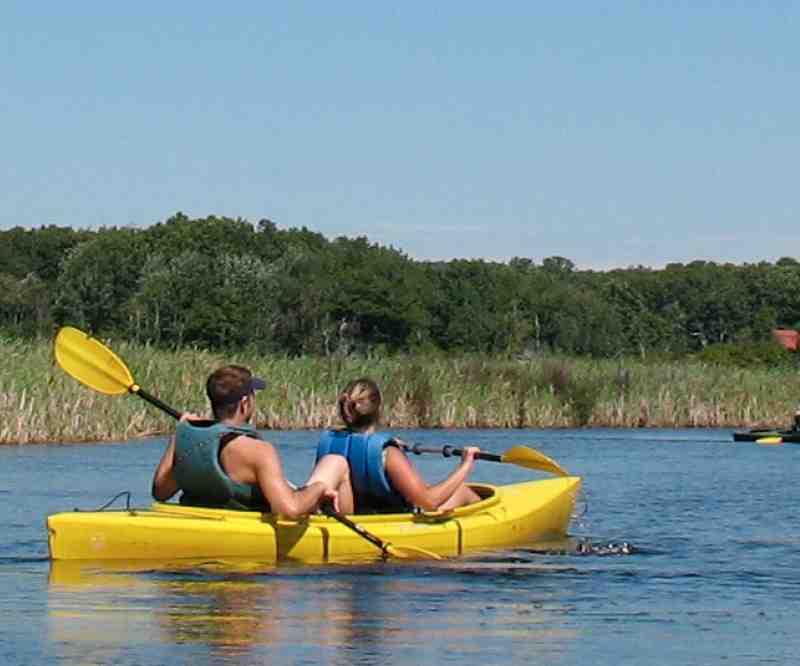 Kayaking at Bayley