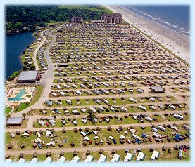 Arial view of Myrtle Beach Travel Park