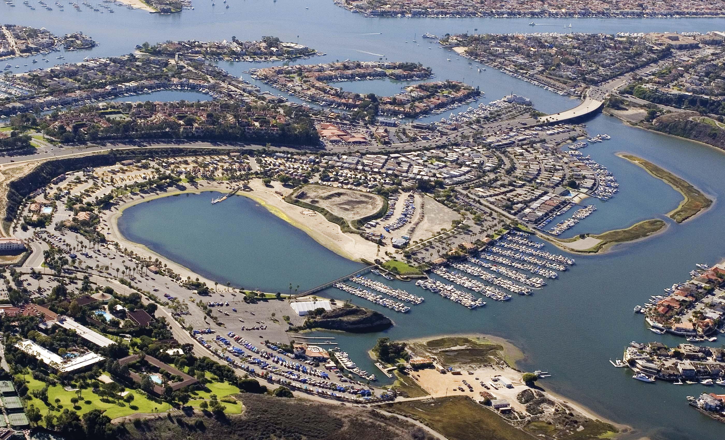 Arial View of Newport Dunes Waterfront Resort
